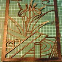 花札・菖蒲に八橋、製作過程。