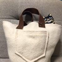 猫付きバッグ完成!