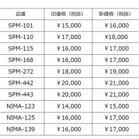 【SPINGLE MOVE】価格改定のご案内