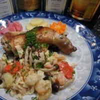 やっぱり素人料理かな:アヒージョ(刻んだニンニクの意味)という  料理に挑戦した。
