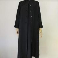黒無地紋入り着物&黒地模様羽織からワンピース・コート(オーダー)