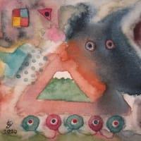犬車(緑の富士山)