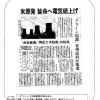 米原発 延命へ電気値上げ
