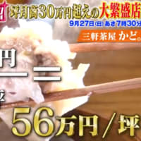 坪月商30万円超えの大繁盛店【がっちりマンデー!!】