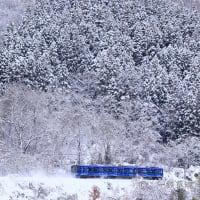雪の絶景に飛び出したSR1系