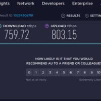 1GbEインターネット接続-auひかり/BIGLOBE-充分に高速
