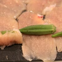 鶏胸肉のオクラ巻き