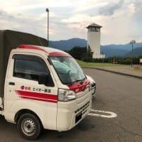 夏休み前日の遠足帰り:松代PA