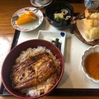 うな丼と天ぷら
