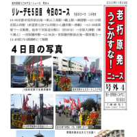 5日目(11.29)のコース & 前々日のリレーデモ(11.27)写真