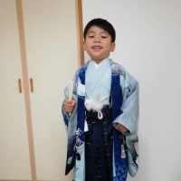 令和2年11月25日出張着付1件目は堺市堺区、訪問着の着付&ポイントメイクとヘアセット、5歳の紋付き袴のご依頼