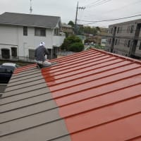 プレハブ改修工事、雨漏れ改修工事、塗装工事