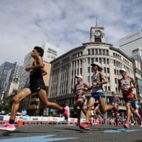 マラソン五輪代内定 男子は中村、服部 女子は前田、鈴木 / 毎日新聞