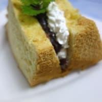 シラスのオイル漬け/シフォンサンド、餡バター