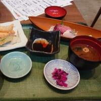嘉文 金山店 選べるランチ(おまかせ刺身2種盛・海老天ぷら)