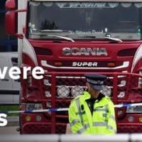 英南東部エセックス(Essex)州で、トラックのコンテナから39人の中国人の遺体が見つかった