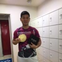 空手世界一の金メダル