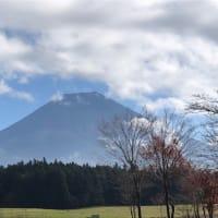 朝霧高原から望む富士山