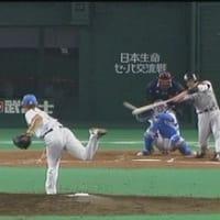 浜中満塁タイムリー&井川気迫の投球で松坂を倒す