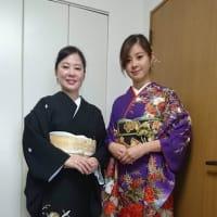 令和元年出張着付は堺市堺区、留袖と振袖の着付け依頼でした。