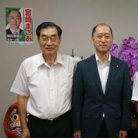 宮崎まさお先生に当選祝いの表敬訪問を行いました