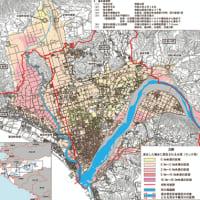 日高川水系  千年以上に1回(想定最大)洪水区域図  県が公表 日高平野は全域浸水 〈2020年2月19日〉