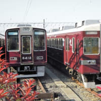 阪急 正雀車庫(2010.5.8) 6450、2372 並び/6454、8412 並び