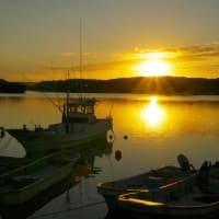 賢島夕陽が丘の日の入り風景