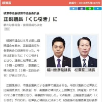 ◆5月の臨時議会で副議長に立候補! 10vs10でくじ引きとなりました!!!
