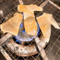 軽く炙ってマヨ七味で♪漢気タイムのエイヒレ!小田原早川漁村 漁師の浜焼 あぶりや