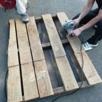 使わなくなった木製パレットを銭湯の燃料に活用