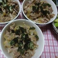 豚丼と参鶏湯風スープ