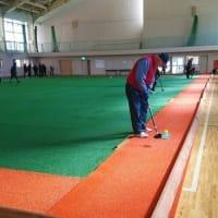今日もグランドゴルフ練習