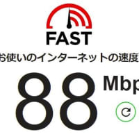 アハモのテザリングでPC接続したネット接続スピード