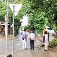 茎崎第一小学校 通学路の安全対策。
