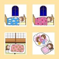 「就寝1」(生活・くらし/人物)