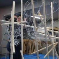 マタギ「熊を討つ」 中型ねぶた制作開始