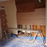 【キッチン下地処理】トクラス設置の下地処理作業完了