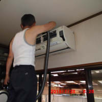 エアコンの掃除。