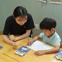 韓国の幼稚園・保育園でのボランティアの様子