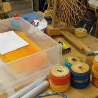 雨の金曜日は織物新企画を、一年前はダイヤモンドプリンセスの寄港の日