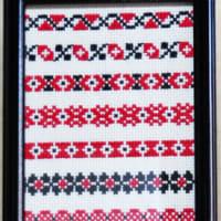 初めてのウクライナ刺繍の展示の時のサンプルです
