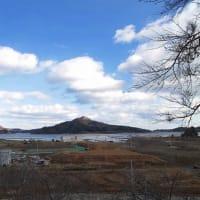 古谷館八幡神社さまから 大島。唐桑早馬山方面を望む