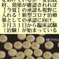 殺人政権!安倍日本【アビガン】使用は【今夏以降】主要各国は既に【アビガン】で治療が始まり成果をあげているが…安倍政府、効果が確認されれば【今夏】の承認も視野に入れる!だって!