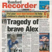 ローカル新聞に載りました! We are in Romford Recorder!