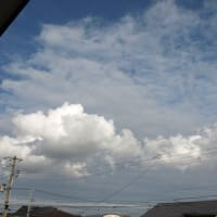 天候回復を思わせる雲
