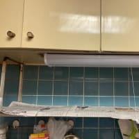 今日もコツコツ、アンテナ工事&キッチン照明交換