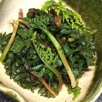 珍味冬の花わらび(霜ワラビ)貴重な秋山菜!