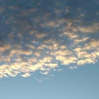 雲と上弦の月