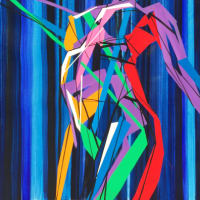 Nude-Muse-angel-Tableau-ヌード-芸術-アート-絵画:踊るダンサー